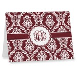Maroon & White Note cards (Personalized)