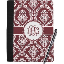 Maroon & White Notebook Padfolio (Personalized)
