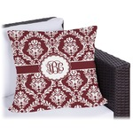 Maroon & White Outdoor Pillow (Personalized)