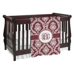 Maroon & White Baby Blanket (Personalized)