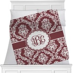 Maroon & White Minky Blanket (Personalized)