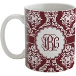 Maroon & White Coffee Mug (Personalized)