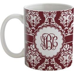 Maroon & White Coffee Mug (Personalized)