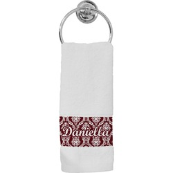 Maroon & White Hand Towel (Personalized)