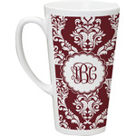 Maroon & White Latte Mug (Personalized)
