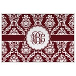 Maroon & White Placemat (Laminated) (Personalized)