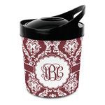 Maroon & White Plastic Ice Bucket (Personalized)