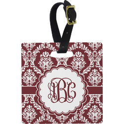 Maroon & White Luggage Tags (Personalized)