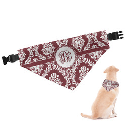 Maroon & White Dog Bandana (Personalized)