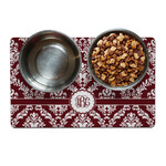 Maroon & White Dog Food Mat (Personalized)