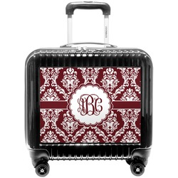 Maroon & White Pilot / Flight Suitcase (Personalized)