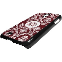 Maroon & White Plastic Samsung Galaxy 4 Phone Case (Personalized)