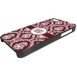 Maroon & White Plastic iPhone 5/5S Phone Case (Personalized)