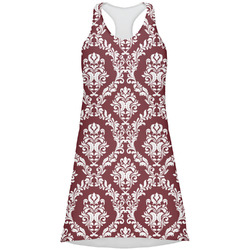 Maroon & White Racerback Dress (Personalized)