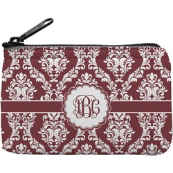 Maroon & White Rectangular Coin Purse (Personalized)