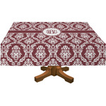 Maroon & White Tablecloth (Personalized)