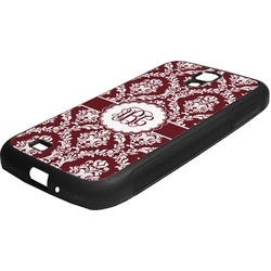 Maroon & White Rubber Samsung Galaxy 4 Phone Case (Personalized)