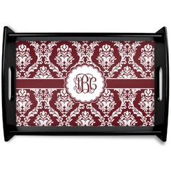 Maroon & White Black Wooden Tray (Personalized)