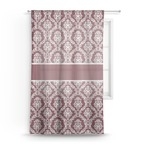 Maroon & White Sheer Curtains (Personalized)