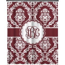 """Maroon & White Extra Long Shower Curtain - 70""""x84"""" (Personalized)"""