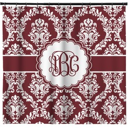 Maroon & White Shower Curtain (Personalized)