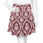 Maroon & White Skater Skirt (Personalized)