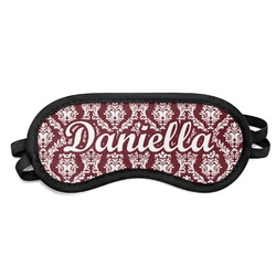 Maroon & White Sleeping Eye Mask (Personalized)