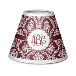 Maroon & White Chandelier Lamp Shade (Personalized)