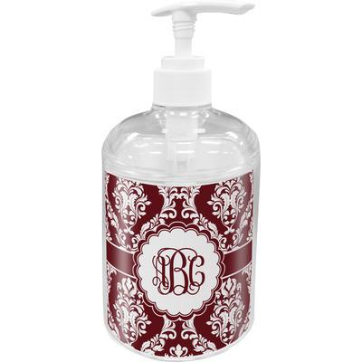 Maroon & White Acrylic Soap & Lotion Bottle (Personalized)