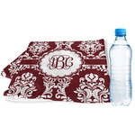 Maroon & White Sports & Fitness Towel (Personalized)