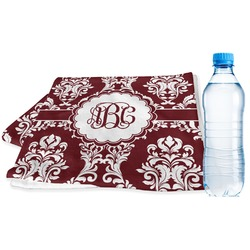 Maroon & White Sports Towel (Personalized)