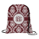 Maroon & White Drawstring Backpack (Personalized)