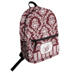 Maroon & White Student Backpack (Personalized)
