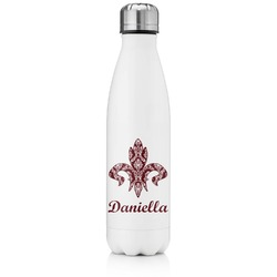 Maroon & White Tapered Water Bottle - 17 oz. - Stainless Steel (Personalized)