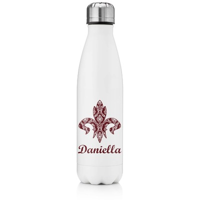 1dec9c5051 Maroon & White Tapered Water Bottle - 17 oz. - Stainless Steel (Personalized )
