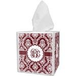Maroon & White Tissue Box Cover (Personalized)