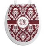 Maroon & White Toilet Seat Decal (Personalized)