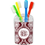 Maroon & White Toothbrush Holder (Personalized)