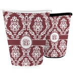 Maroon & White Waste Basket (Personalized)