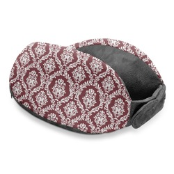 Maroon & White Travel Neck Pillow (Personalized)