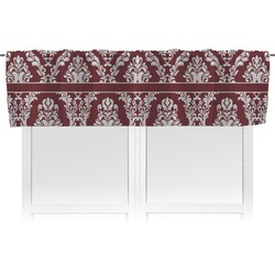 Maroon & White Valance (Personalized)