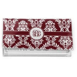 Maroon & White Vinyl Checkbook Cover (Personalized)