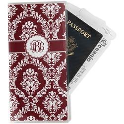 Maroon & White Travel Document Holder