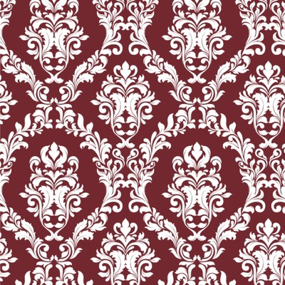 Maroon & White Wallpaper & Surface Covering