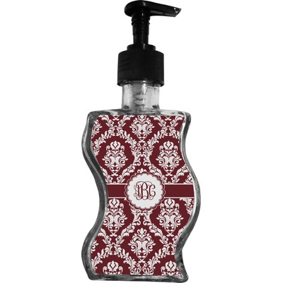 Maroon & White Wave Bottle Soap / Lotion Dispenser (Personalized)
