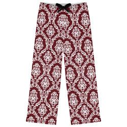 Maroon & White Womens Pajama Pants (Personalized)