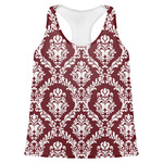 Maroon & White Womens Racerback Tank Top (Personalized)
