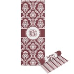 Maroon & White Yoga Mat - Printable Front and Back (Personalized)