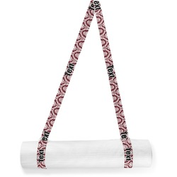 Maroon & White Yoga Mat Strap (Personalized)