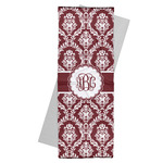 Maroon & White Yoga Mat Towel (Personalized)